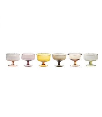 Set 6 coppette Nuance forme assortite colore ambra-rosa Bitossi Home