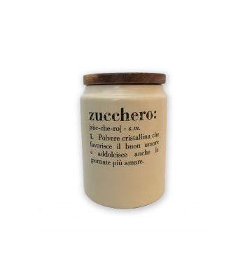 Barattolo Zucchero in gres  c/coperchio in bamboo VICTIONARY VILLA D'ESTE