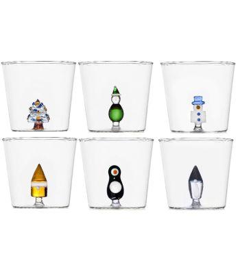 bicchieri XMAS  MIX COLOR pz 6 ICHENDORF
