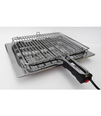 Bistecchiera elettrica inox 48x47 h12,5 Comax